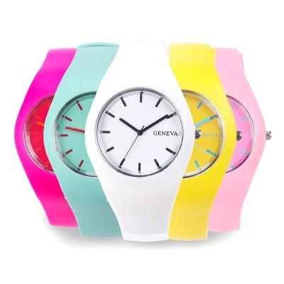 8e684fba Часы Geneva с силиконовым ремешком Jelly, купить по лучшей цене в ...
